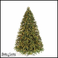 9 ft White Spruce Pre-Lit Artificial Christmas Tree w/ Clear LED Lights