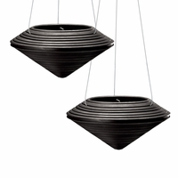 Danbury Black Hanging Planters - Set of 2