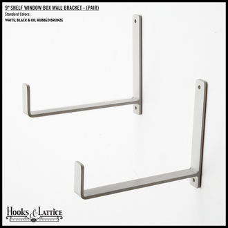 "9"" Shelf Window Box Wall Bracket - (Pair)"