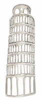"""9""""W x 29""""H Aluminum Leaning Tower Of Pisa Wall Decor"""