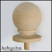 "9""  Wood Ball Finial- Furniture Grade, Style B3"