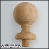 "9""  Wood Ball Finial- Furniture Grade, Style B4"