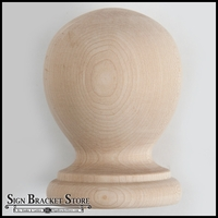 "9""  Wood Ball Finial- Furniture Grade, Style B5"