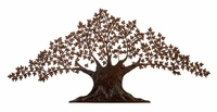 "93""W x 41""H Mighty Oak Tree Wall Decor"