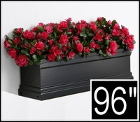 96in. Black Supreme Fiberglass Window Box