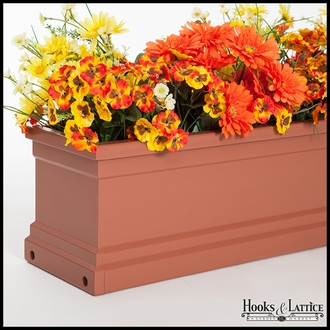 "96"" Terra Cotta Supreme Fiberglass Window Box"