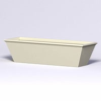 Tuscana Tapered Fiberglass Commercial Planter 96in.L x 30in.W x 24in.H