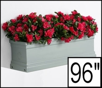96in. Slate Grey Supreme Fiberglass Window Box