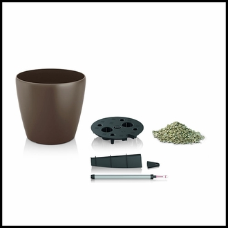 17in. Shatterproof Self-Watering Planter - Nutmeg