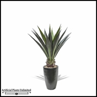 Agave Plant In Fiberglass Pot 46in. (2 Colors)
