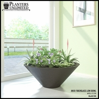 Akio Low Bowl Lightweight Planters