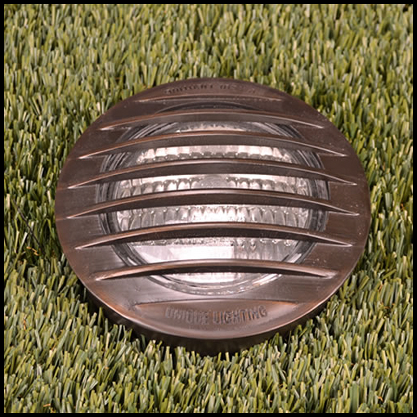 Apollostar Low Voltage In Ground Well Light - Brass Debris Grate Click to enlarge & Apollostar Low Voltage In Ground Well Light - Brass Debris Grate