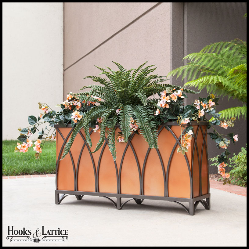 Arch Wrought Iron Planters, Outdoor