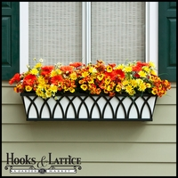 Arch Decora Window Box with White Galvanized Liner