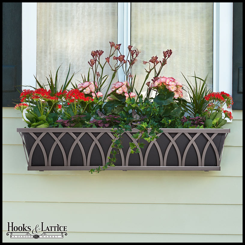 Wrought Iron Wall Planters, Black Window Boxes