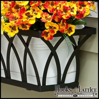 Arch Decora Window Boxes with PVC Liner