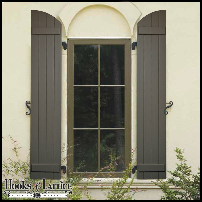 Arched Shutters Exterior Window Shutters By Hooks Amp Lattice