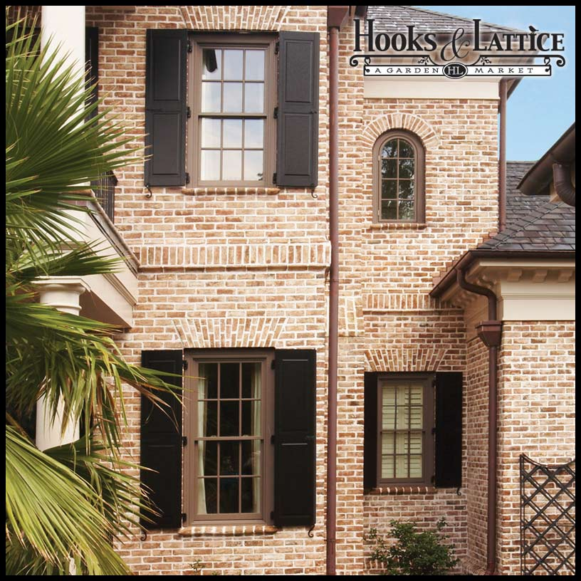 Architectural raised panel fiberglass shutters for 18 inch wide exterior shutters