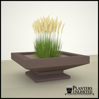Argos Fiberglass Planter on Pedestal