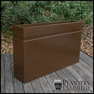 Arroyo Fiberglass Commercial Planter 36in.L x 18in.W x 24in.H
