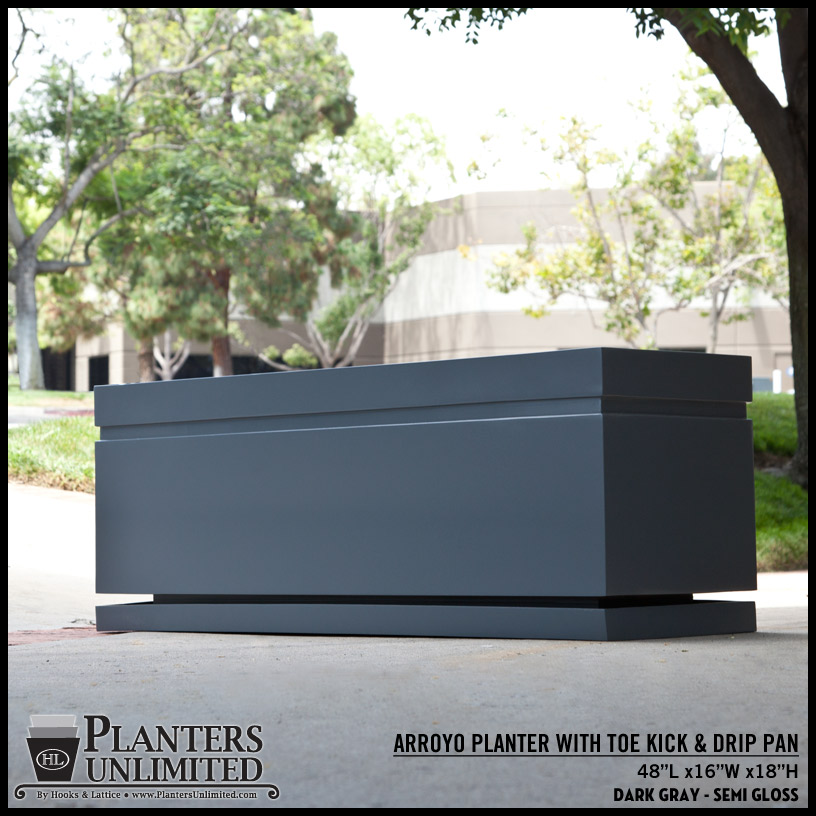 Arroyo Large Rectangle Planter Commercial Outdoor