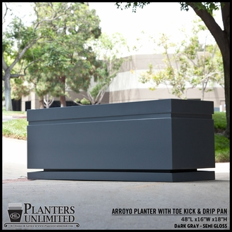 Arroyo Rectangle Planter