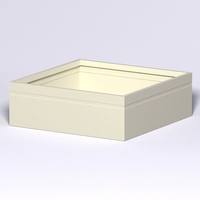 Arroyo Fiberglass Commercial Planter 72in.L x 72in.W x 24in.H
