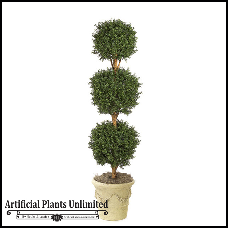 artificial ball topiary for indoor use | artificial plants unlimited