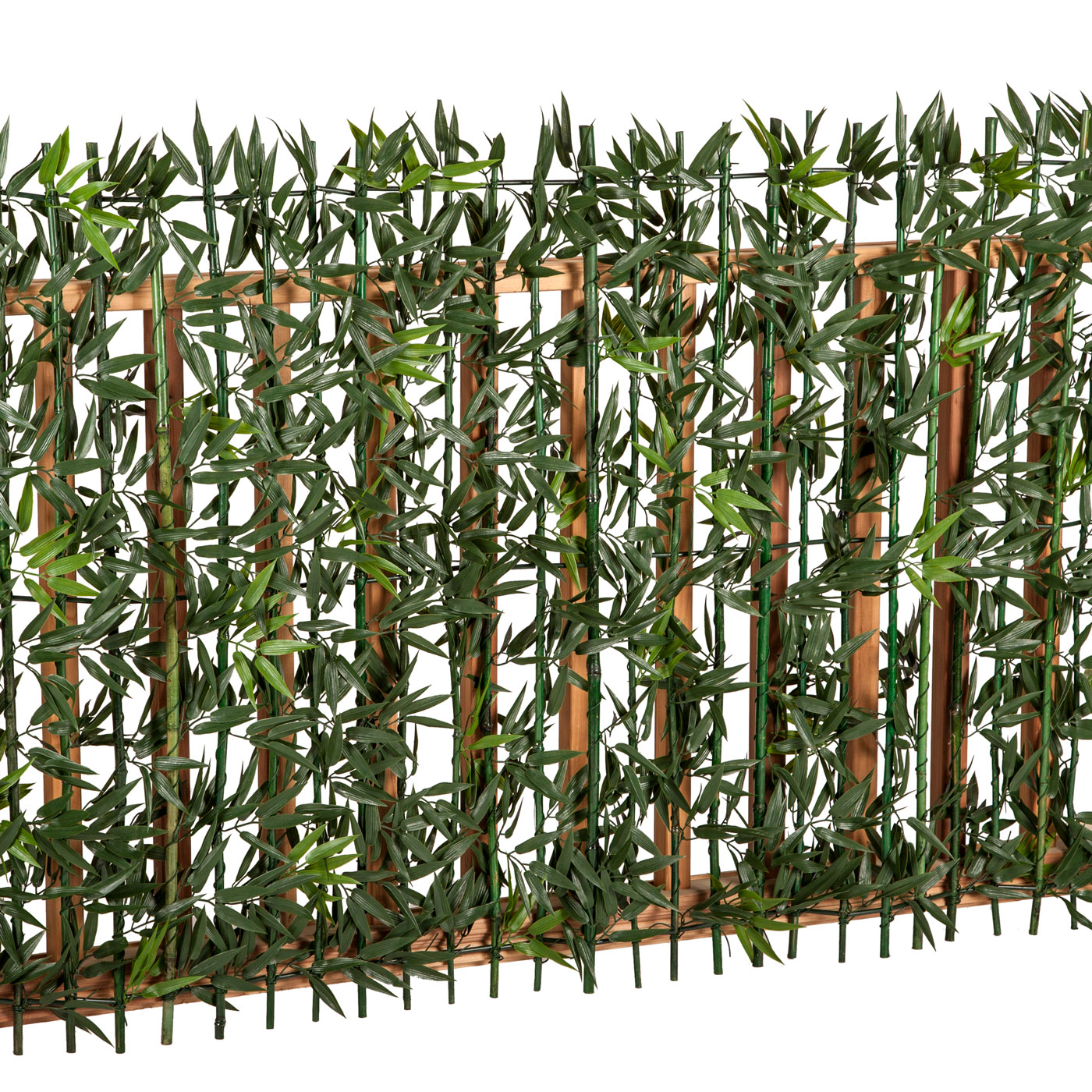 artificial bamboo foliage roll for privacy fencing click to enlarge