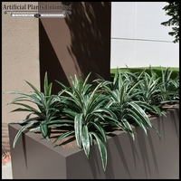 Artificial Dracaena with Modern Fiberglass Planter