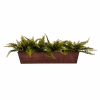 Artificial Ferns for Window Boxes