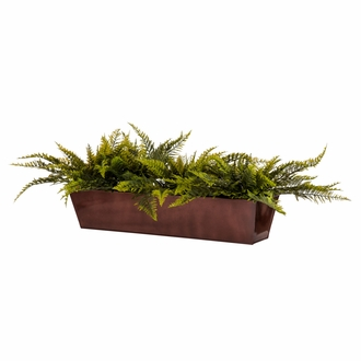 60in. Window Box Recipe - Outdoor Artificial Ruffle Ferns