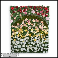 Flower Wall Indoor Artificial, 48in.L x 36in.H