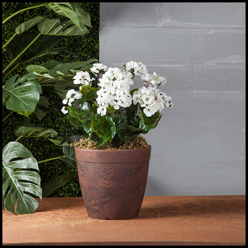 outdoor faux plants flowers - outdoor ideas