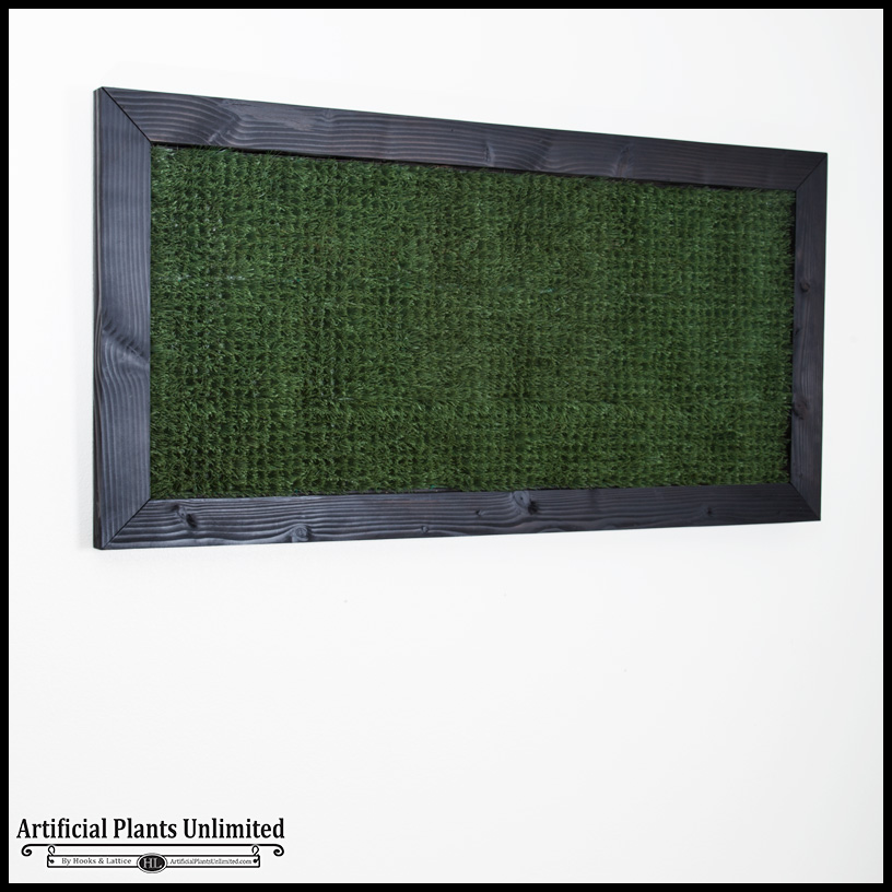 Grass Artificial Indoor Living Wall 72inhx36inh W 4in Frame
