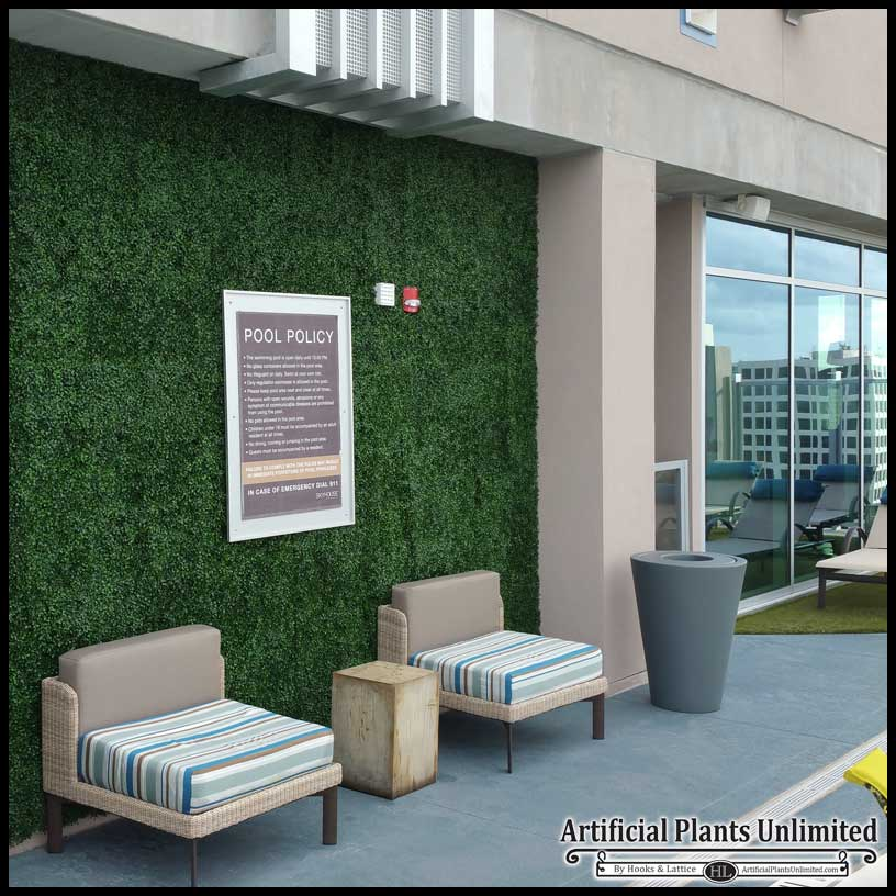 artificial boxwood & artificial plant walls