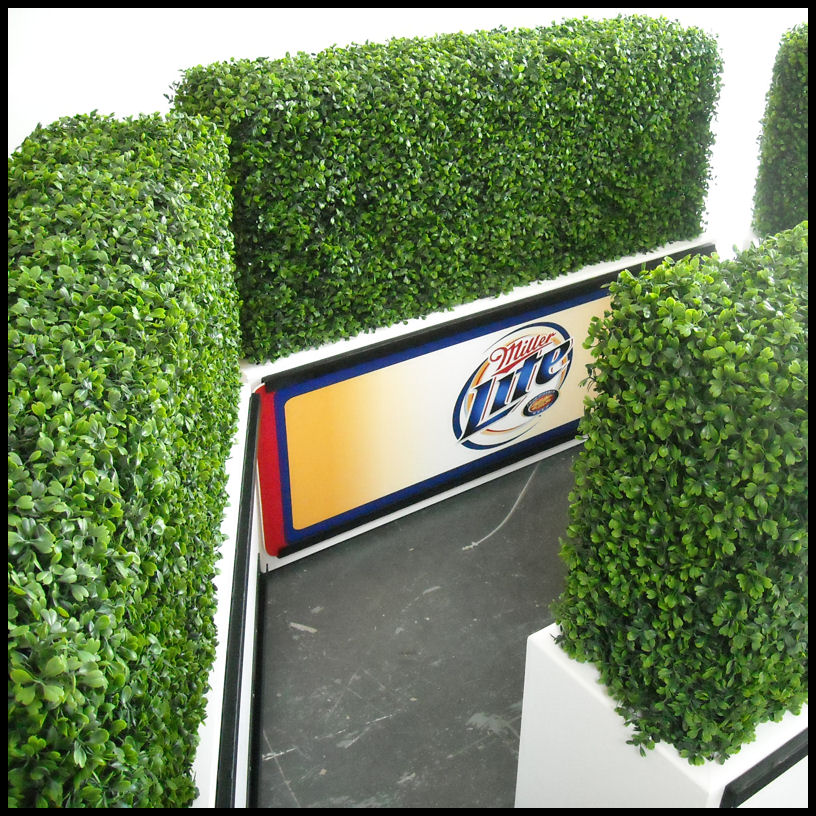 Artificial Hedges Artificial Boxwood Privacy Hedge