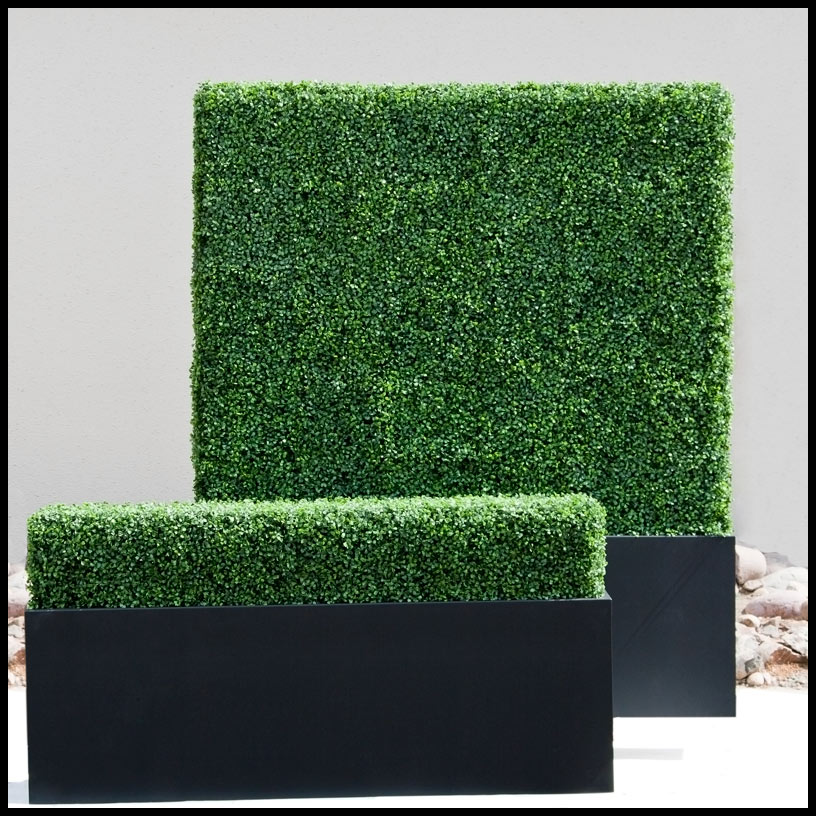 artificial hedges, artificial boxwood, privacy hedge