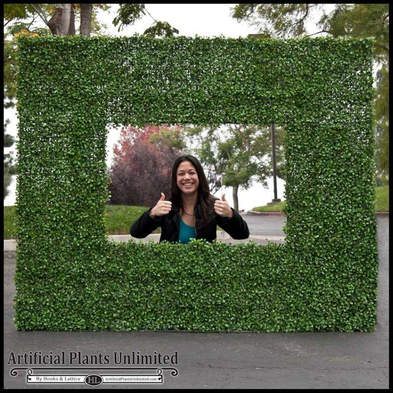 Brand new Indoor Artificial Boxwood Mat Squares, Artificial Hedge Mats LY85