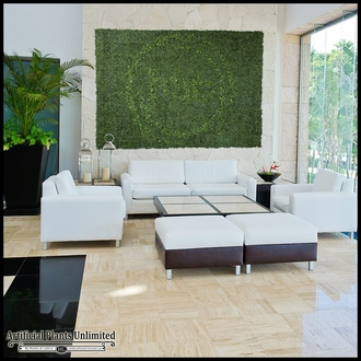 60in x 60in Living Wall with Embeded Custom Logo, Outdoor