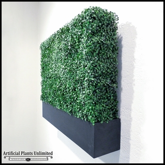 Artificial Outdoor Boxwood Hedge with Cleat Mount