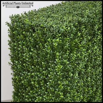 Artificial Outdoor Duraleaf Hedge in Tuscana Planter 72in.L x 18in.W x 60in.H