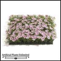 Artificial Pink Sprengeri Flowers Mat 10in. - Indoor