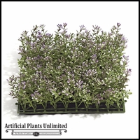 Artificial Purple/Green Boxwood Mat 10in. - Indoor