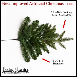 Artificial Spruce Christmas Trees - Pre-Lit