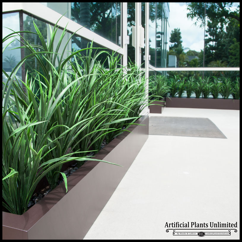 artificial tall grasses, tall artificial grass, outdoor fake tall grass Artificial Bushes and Trees