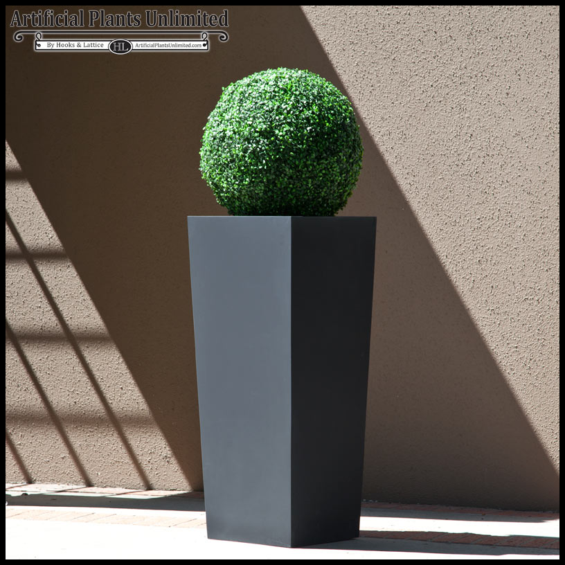 artificial topiary ball and planter | artificial plants unlimited