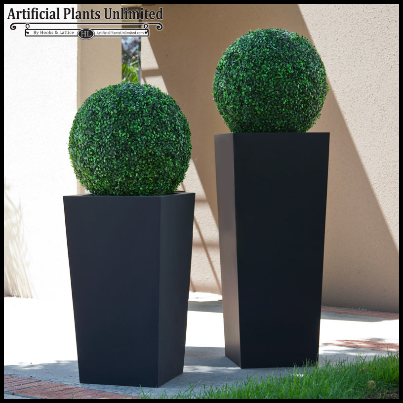 Superior Artificial Topiary Balls Part - 3: Artificial Topiary Ball In Urban Chic Planter Click To Enlarge