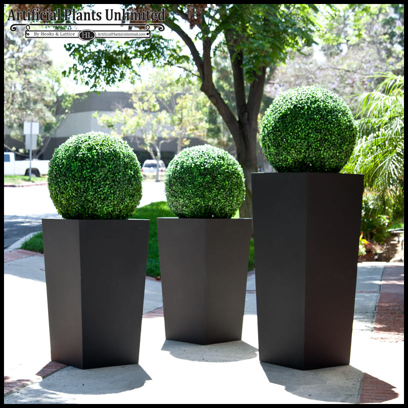 Artificial Topiary Ball And Planter Artificial Plants