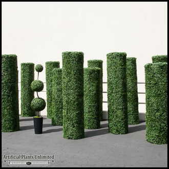 Artificial Topiary Pillars